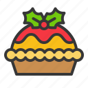 bakery, christmas, food, pastry, pie icon