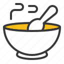 bowl, christmas, food, soup icon