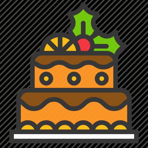 cake, celebration, christmas, food, sweets icon