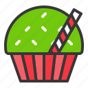 bakery, christmas, cupcake, food, muffin, sweets icon