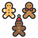 christmas, cookies, food, gingerbread, sweets icon