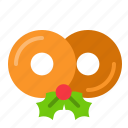 christmas, donuts, doughnuts, glaze doughnuts, sweets icon