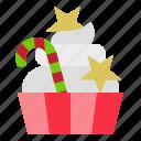cake, christmas, cupcake, dessert, sweets icon