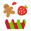 bakery, cupcake, food, muffin, sweets, xmas icon