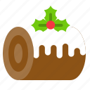 cake, food, sweets, swiss roll, xmas icon