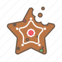 christmas, cookie, food, star, xmas