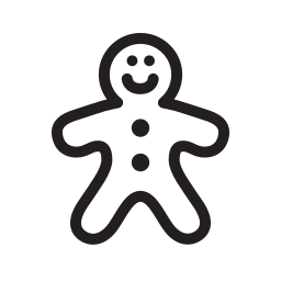 gingerbread, holiday, kids, winter, xmas icon