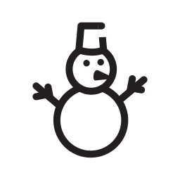 holiday, new year, snow, snowmen icon