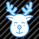 christmas, deer, reindeer, santa, santa claus, xmas icon