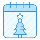 calendar, christmas, desember, holiday, winter, xmas icon