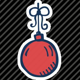 bauble, celebration, christmas, christmas tree, decoration, holiday, holidays icon
