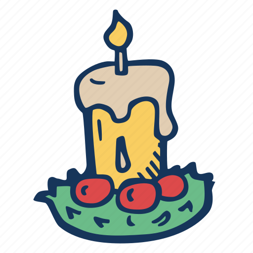 candle, christmas, decoration, holiday, holidays, xmas icon