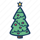 christmas, christmas tree, holiday, holidays, trees, winter icon