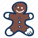 christmas, cookie, gingerbread, guy, holidays, winter icon