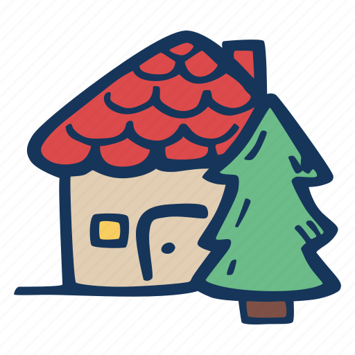 christmas, holiday, holidays, home, house, tree icon