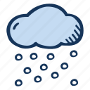 cloud, cloudy, forecast, snow, snowing, weather, winter icon