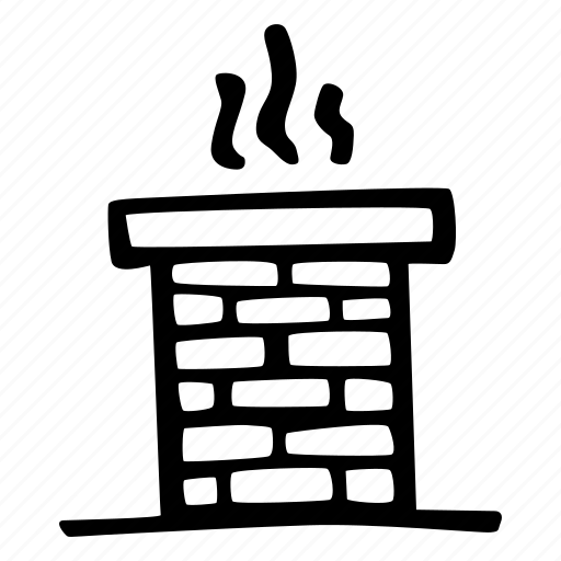brick, chimney, christmas, roof, santa, smoke icon