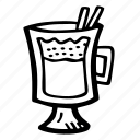 alcohol, christmas, drink, eggnog, holidays, hot, winter icon