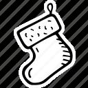 celebration, christmas, decoration, holidays, santas sock, winter icon