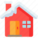 christmas, home, house, snow, winter, xmas icon