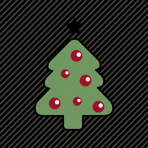 christmas, holiday, santa, tree, xmas icon