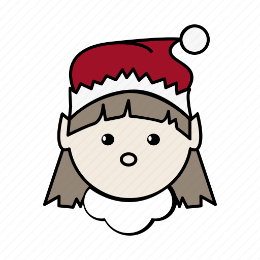 christmas, elf, elves, female, santa, woman, xmas icon
