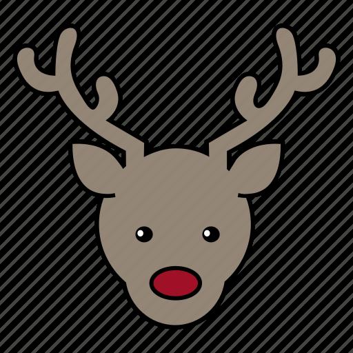 deer, holiday, reindeer, santa icon