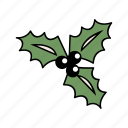christmas, holiday, mistletoe, santa, xmas icon