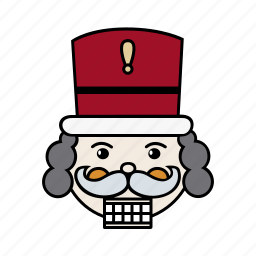 christmas, nutcracker, santa, xmas icon