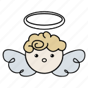angel, christmas, saint, santa, xmas icon