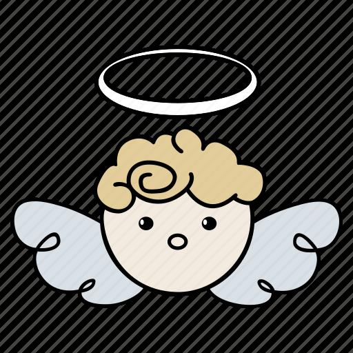 angel, christmas, saint, santa, xmas icon