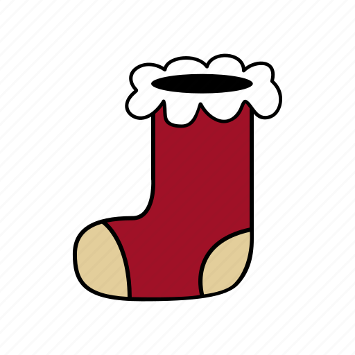 christmas, holiday, santa, sock, xmas icon