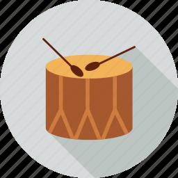 christmas, drum icon