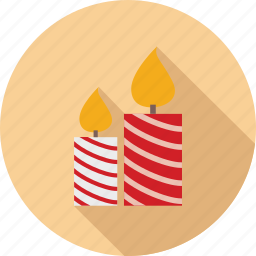 candle, christmas, cold, decoration, fire icon