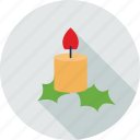 candle, christmas, kandle, leaves icon