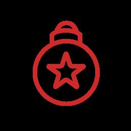 ball, christbaumkugel, christmas, christmas-ball, star, weihnachten, weihnachtskugel, x-mas icon
