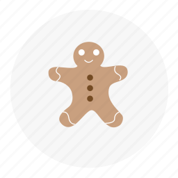 christmas, gingerbread, snow, winter icon