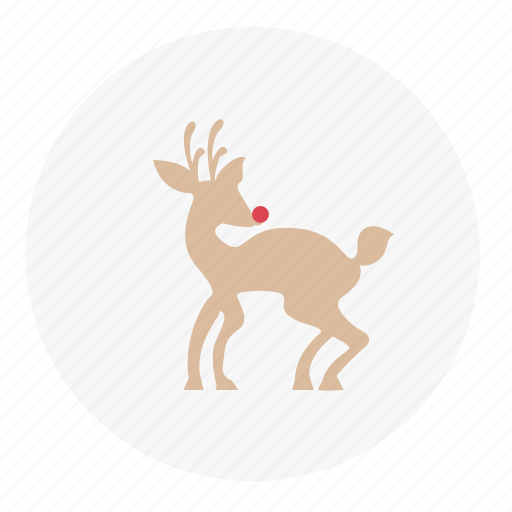christmas, reindeer, winter icon