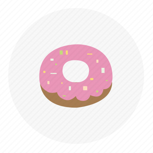christmas, donut, food, sweet, winter icon