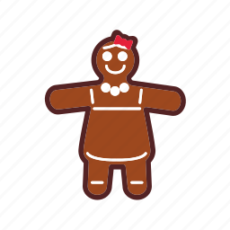 christmas, decoration, gingerbread icon
