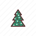 christmas, christmas tree, decoration icon