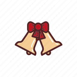 bells, christmas, decoration, ribbon icon