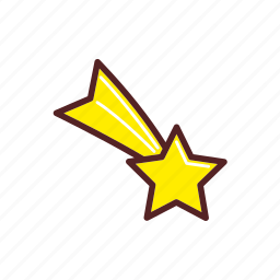 christmas, comet star, decoration, star icon