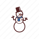 christmas, decoration, jolly, snowman icon