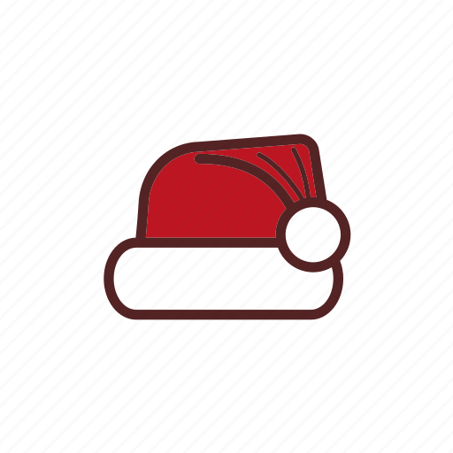 christmas, decoration, hat, santa icon