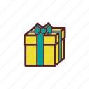 box, christmas, decoration, gift, ribbon icon