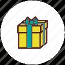 box, christmas, decoration, gift, ribbon