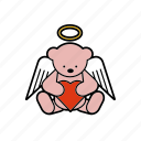 angel, christmas, decoration, love, teddybear, toy icon