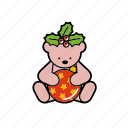 bauble, berries, christmas, decoration, holly, teddybear icon