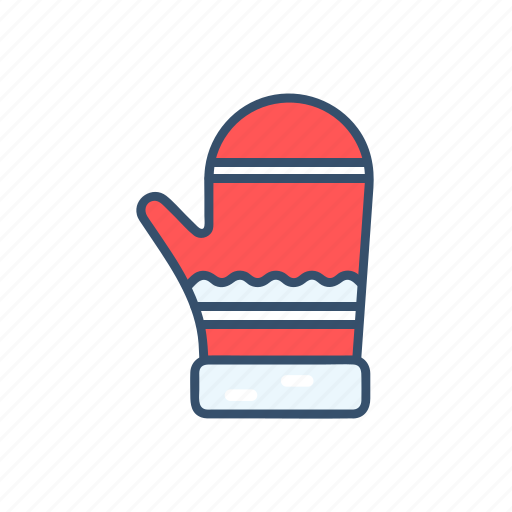 christmas, glove, new year, snow icon